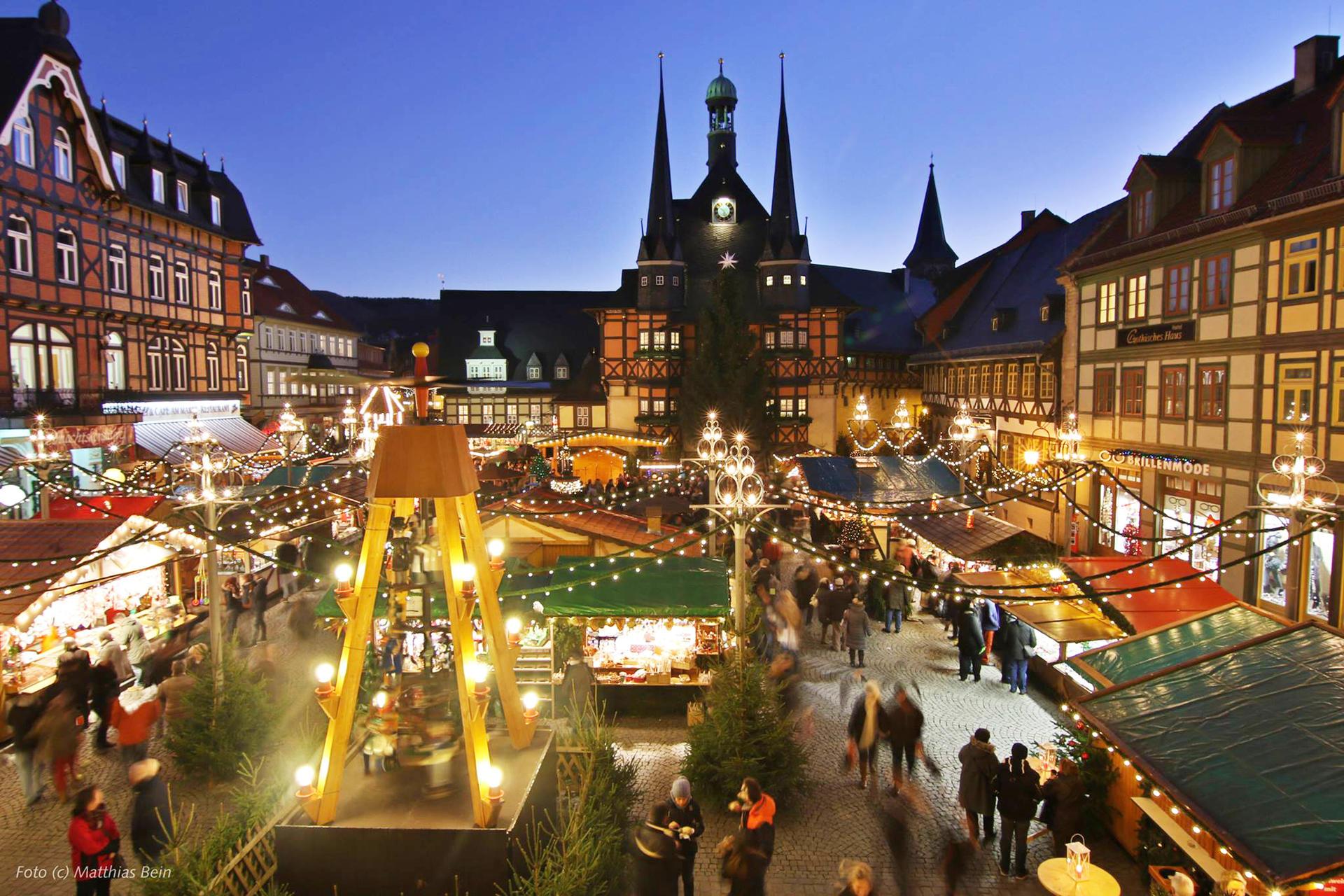 Wernigerode Weihnachtsmarkt.Stadt Wernigerode